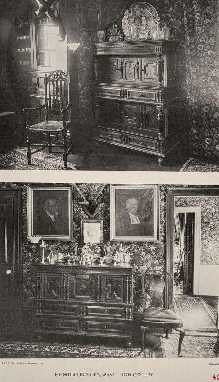Exceptional Salem Interiors Furniture 17thc