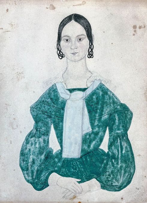Green Dress Folk Art MFA 1838