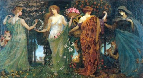 Winter and Springe Masque of the Four Seasons Walter Crane