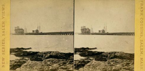 Salem Harbor Stereoview Cousins