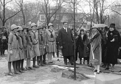 Tree Planting Mrs. Coolidge 1929