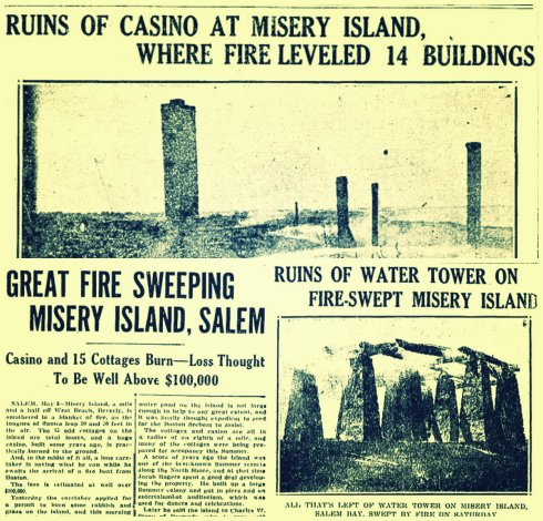 Misery Fire collage May 8-10 1926 Boston Daily Globe