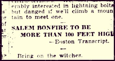 Bonfire 1928 Text Box