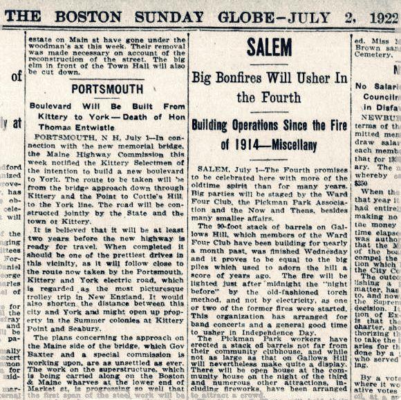 Bonfires 1922