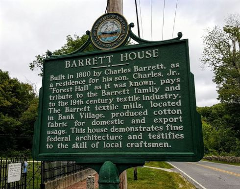 Barrett House placque