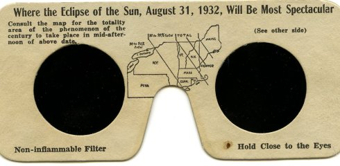 Eclipse glasses 1932