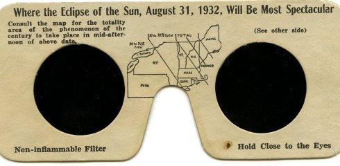 Eclipse glasses 1932