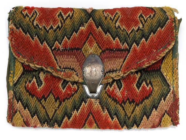 Flame-stitch pocketbook bonhams