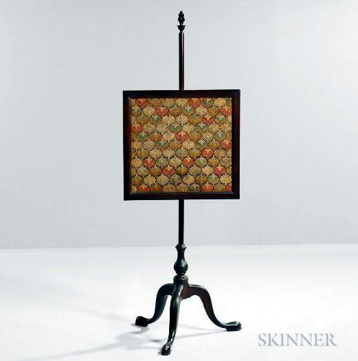 Flame-stitch Pole Screen Skinner