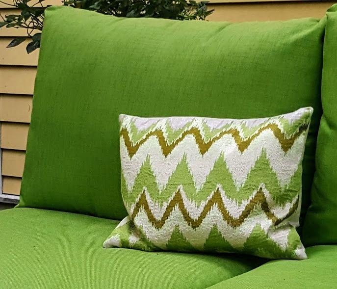 Flamestitch garden pillow