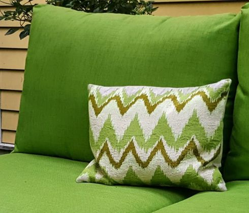 Flamestitch garden pillow