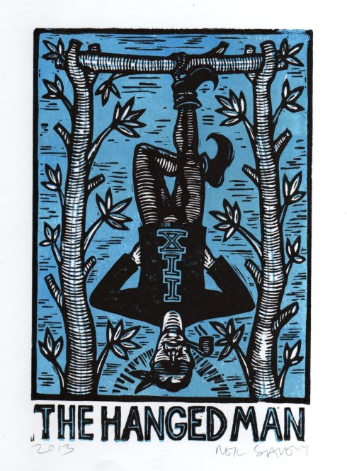 Hanged Man Woodcut