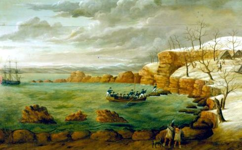Bartoll Landing of the Pilgrims 1825