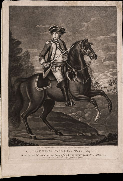 Rebel Officers George Washington on Horseback MAIN