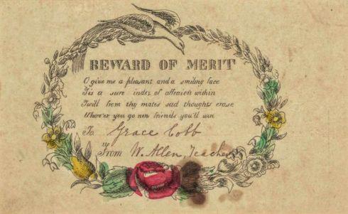 Reward of Merit East Bridgewater 1851