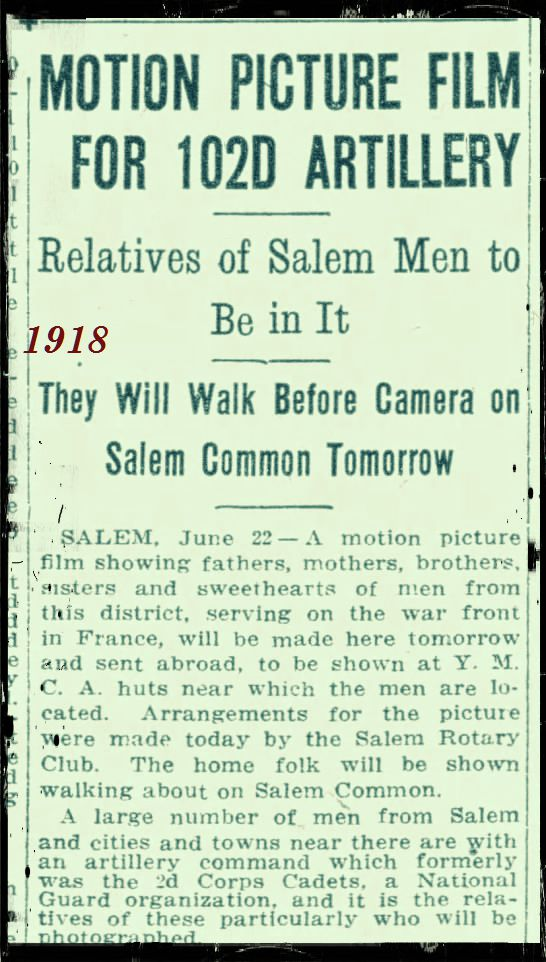 Salem Common 1918