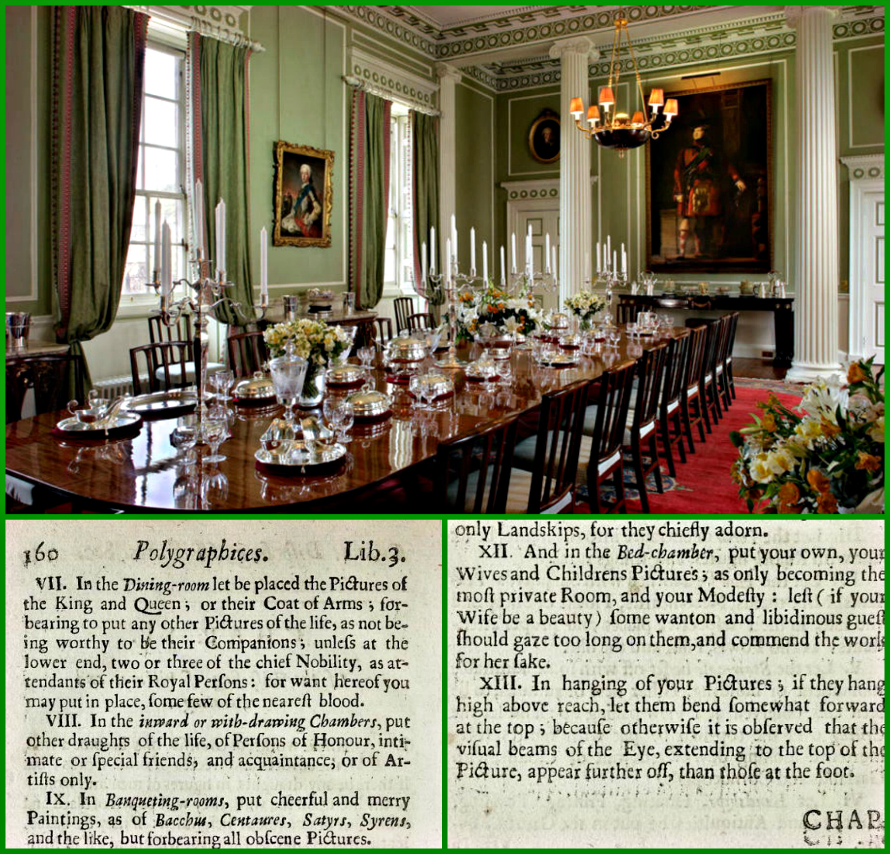 The Dining Room At The Royal Palace Of Holyroodhouse In Edinburgh, Over  Which King George IV Reigns.