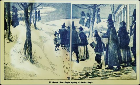 Life Thanksgiving Puritans 1895