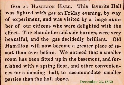 Hamilton Hall Gas