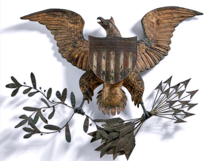 artful arrows chinese eagle sotheby's folk art auction 20 jan