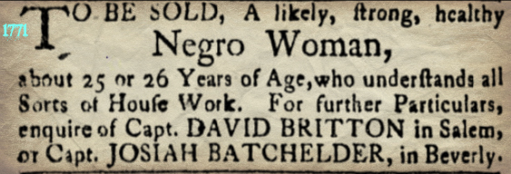 Slave Adverts Oct 29 1771