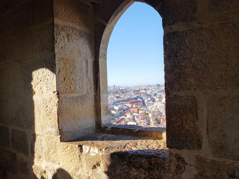 Yellow Lisbon Castle