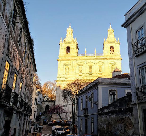 Yellow Lisbon Church