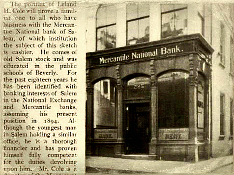 Salem 1897 Mercantile National Bank 225 Essex