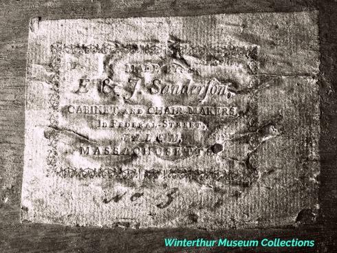 Sanderson Label Winterthur