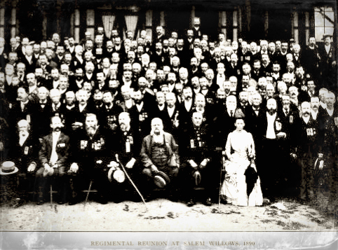 1st regiment reunion at Salem Willows 1890