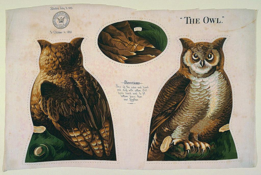 North Adams Arnold Print Work Owl Cooper Hewitt