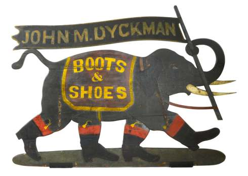 Elephants Walking sign Sothebys