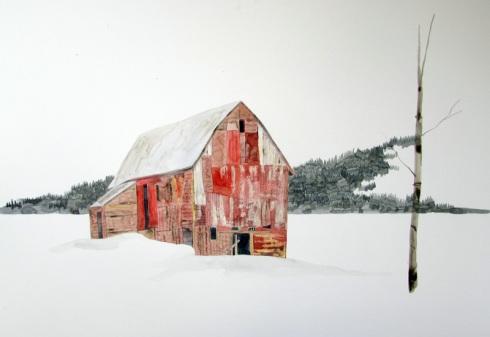 Winter House Barn
